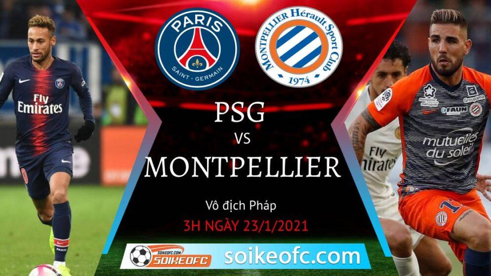 Soi kèo PSG vs Montpellier, 3h00 ngày 23/01/2021 – VĐQG Pháp