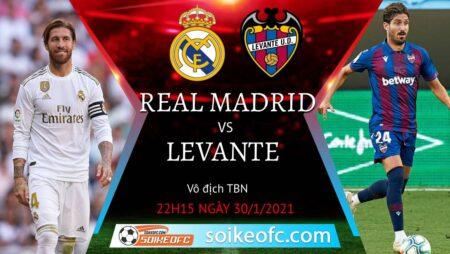 Soi kèo Real Madrid vs Levante, 22h15 ngày 30/01/2021 – VĐQG Tây Ban Nha