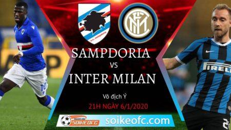 Soi kèo Sampdoria vs Inter Milan, 21h00 ngày 06/01/2021 – VĐQG Italia