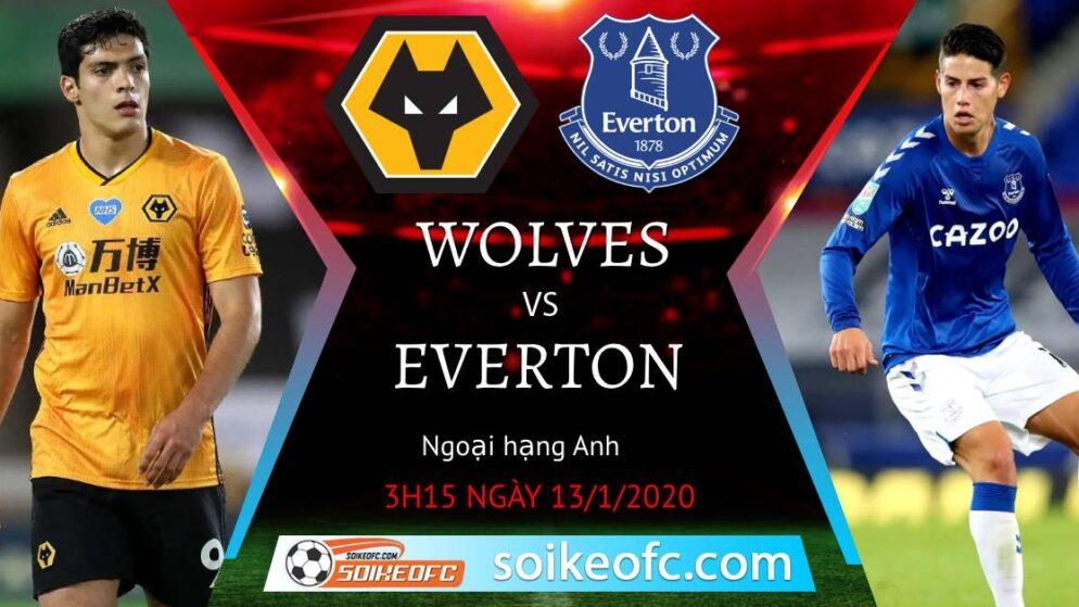 Soi kèo Wolves vs Everton, 3h15 ngày 13/01/2021 – Ngoại Hạng Anh