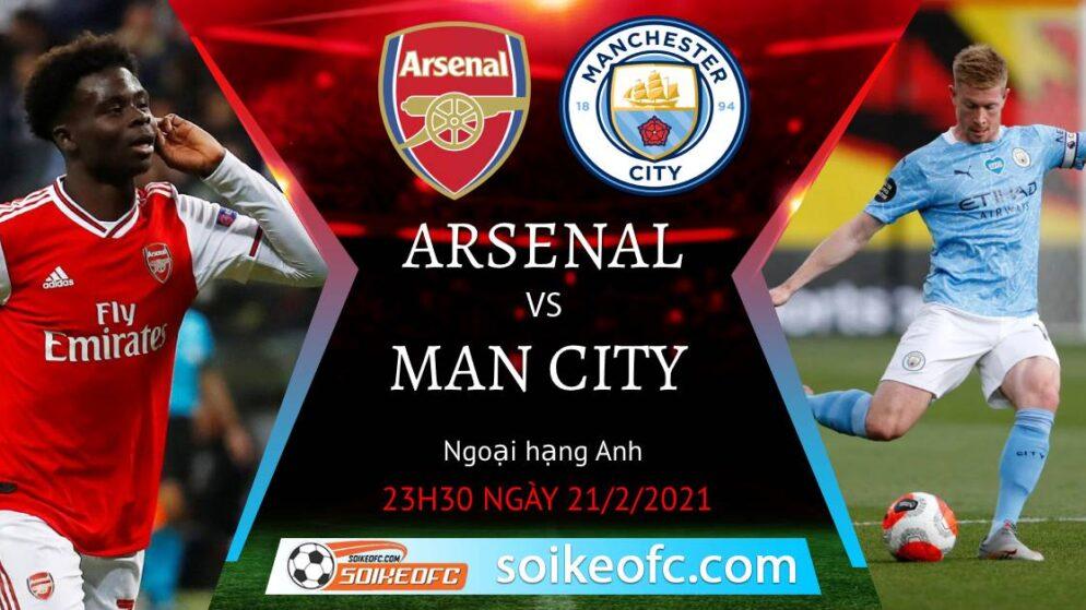 Soi kèo Arsenal vs Manchester City, 23h30 ngày 21/02/2021 – Ngoại Hạng Anh
