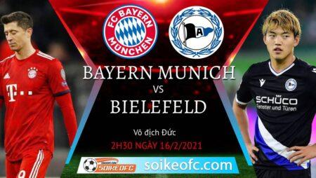 Soi kèo Bayern Munich vs Arminia Bielefeld, 02h30 ngày 16/02/2021 – Giải VĐQG Đức