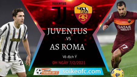 Soi kèo Juventus vs AS Roma, 0h00 ngày 07/02/2021 – VĐQG Italia