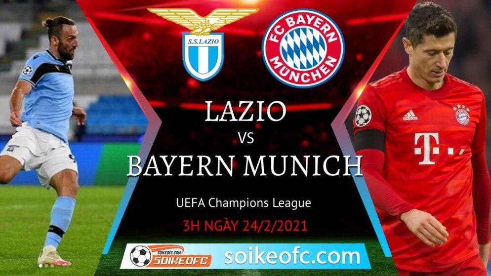 Soi kèo Lazio vs Bayern Munich, 3h00 ngày 24/02/2021 – Champion League