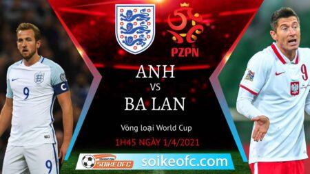 Soi kèo Anh vs Ba Lan, 01h45 ngày 01/04/2021 – Vòng loại World Cup 2022