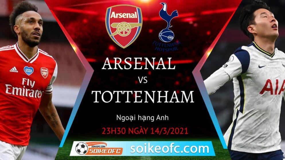 Soi kèo Arsenal vs Tottenham, 23h30 ngày 14/03/2021 – Ngoại Hạng Anh