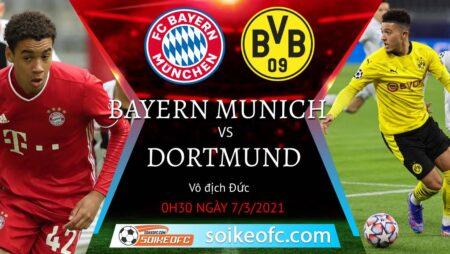 Soi kèo Bayern Munich vs Borussia Dortmund, 00h30 ngày 07/03/2021 – VĐQG Đức