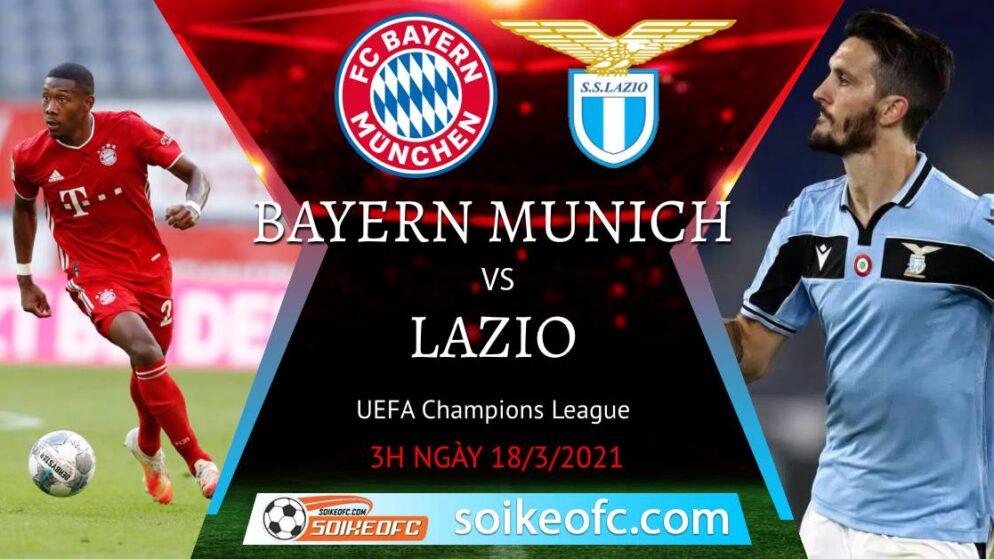 Soi kèo Bayern Munich vs Lazio, 3h00 ngày 18/03/2021 – Champion League