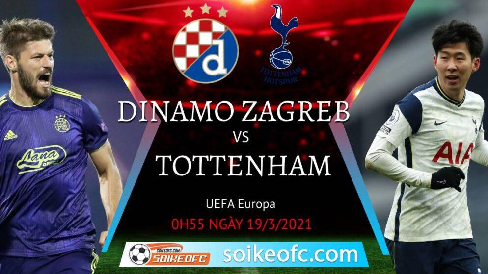 Soi kèo Dinamo Zagreb vs Tottenham, 00h55 ngày 19/03/2021 – Europa League