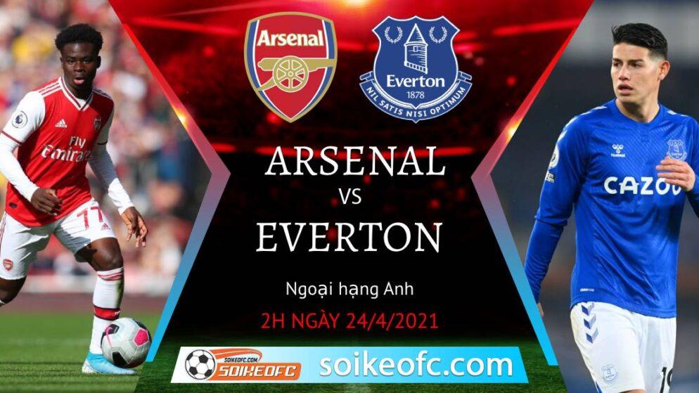 Soi kèo Arsenal vs Everton, 02h00 ngày 24/04/2021 – Ngoại Hạng Anh