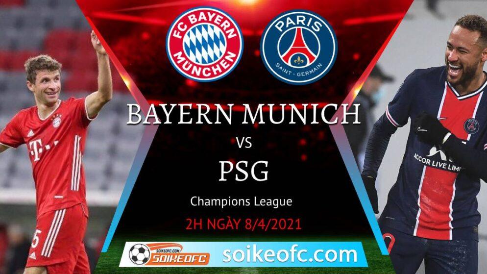 Soi kèo Bayern Munich vs PSG, 02h00 ngày 08/04/2021 – Champion League